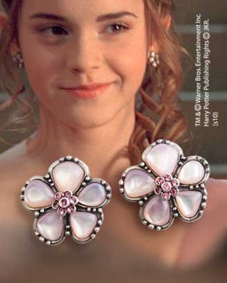 (Harry Potter) Hermione's Yule Ball Earrings – Silver Plated