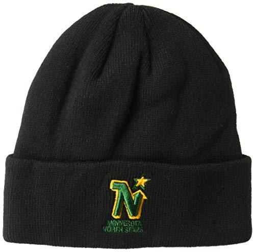 OTS NHL Minnesota North Stars Raised Cuff Knit Cap, Black, One Size
