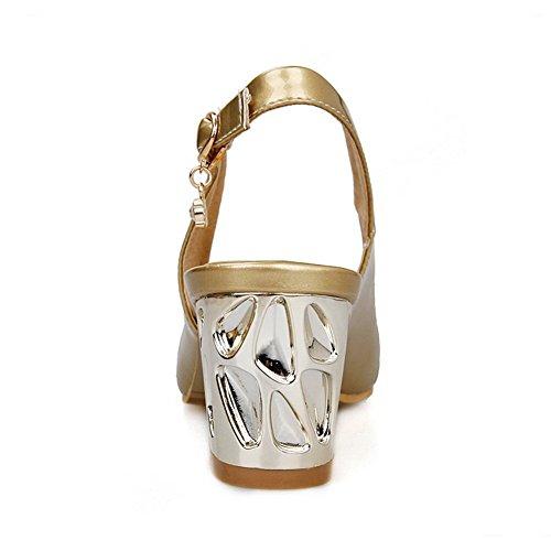Balamasa Sandalo Da Donna Con Fibbia In Pelle Oro Imitazione Tallone Gattini