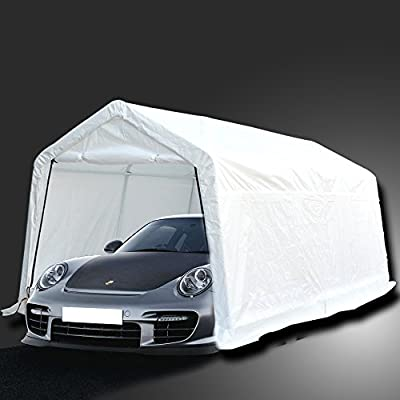 DoubleSun Carport Canopy 10 x 15 Heavy Duty-Temporary Outdoor Canopy Garage Carport Car Shelter Canopy-with Side Walls and Doors