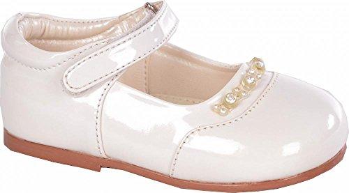 Bébés filles Creme Diamond brevet Chaussures Taille bébé 1 à 10 infantile