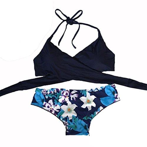 Bikini Da Beautyjourney Costumi Sexy Alta Mare Imbottito Up Brasiliana Blu Vita Reggiseno Donna Intero Ragazza Push Bagno Costume wpnHwx