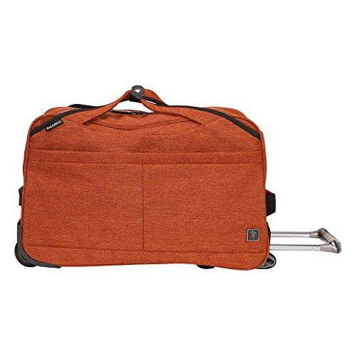 Ricardo Beverly Hills Malibu Bay 20-inch Rolling City Duffel Bag Carry-On Luggage, Orange (Orange Small Rolling Luggage)