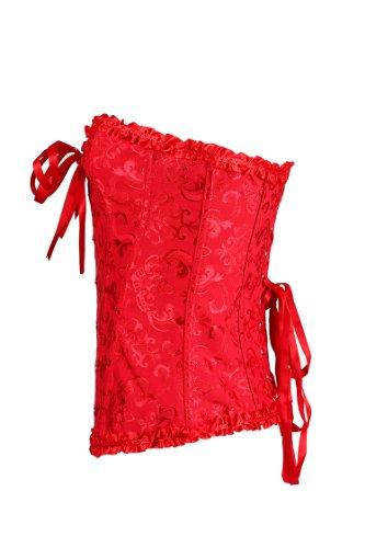 E-SHINE CO De las mujeres del cors¨¦ del chaleco con las tazas m¨¢s el tama?o Busiter S-6XL Rojo