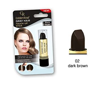 cb4ca104667 Amazon.com  Golden Rose Gray Hair Touch-up stick (02 Dark Brown) by Golden  Rose  Beauty
