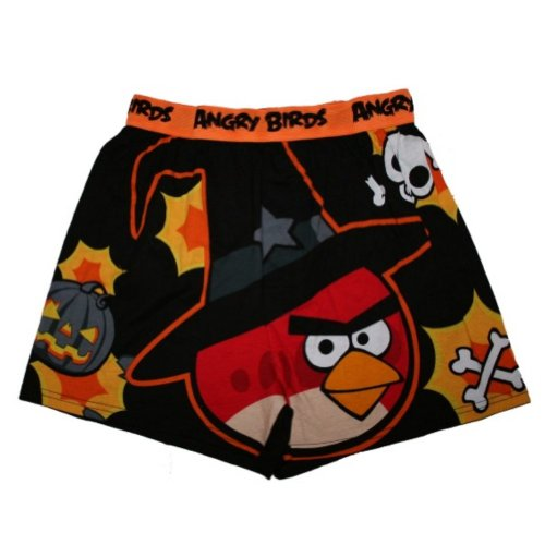 Angry Birds Mens Witch Boxers Halloween Boxer Shorts Bird Pirate - Medium / 32-34