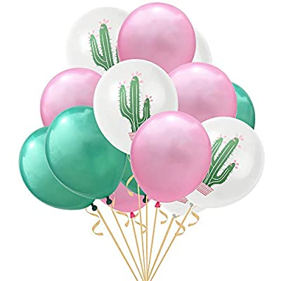 30PCS Cactus Party Balloons for Hawaiian Luau Tropical Party Balloons Birthday Decorations: Toys & Games