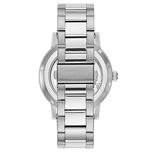 Kenneth Cole New York Men's Automatic Stainless Steel and Leather Casual Watch Stainless Steel Case Leather Strap/Stainless Steel Bracelet Casual Watch,(Model:KC50054001/03/05/06)