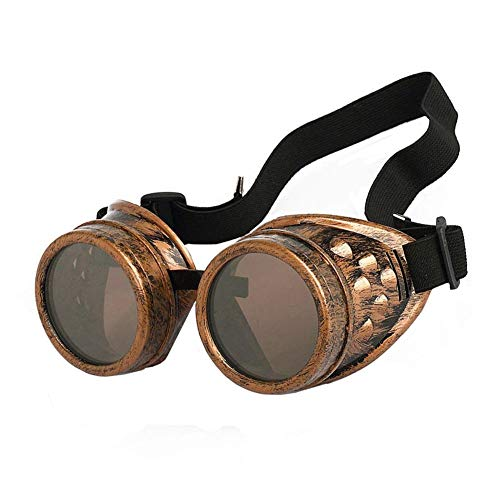New Sell Vintage Steampunk Goggles Glasses Welding Cyber Punk Gothic (Copper)) -