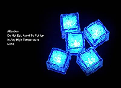 Giveumore 72pcs Romantic LED Ice Cubes Fixed Color Light Crystal Cube For Valentine's Day Party Wedding Decoration