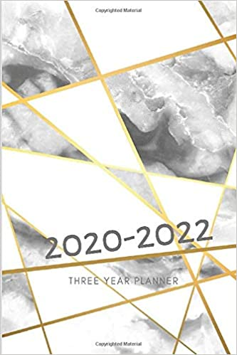 3 Year Planner 2020-2022 Marble Grey Three Years Monthly ...