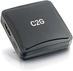 C2G 41410 VGA + 3.5mm to HDMI Adapter Converter, Black