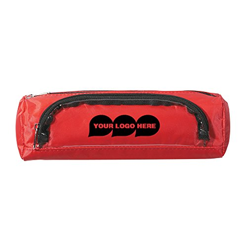 Academic Zippered Pencil Case - 100 Quantity - $2.25 Each - PROMOTIONAL PRODUCT / BULK / BRANDED with YOUR LOGO / CUSTOMIZED by CloseoutPromo