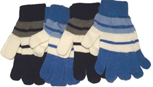 Four Magic Stretch Gloves for Children Ages 5-10 Years by Gita