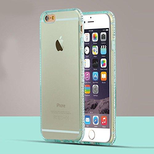 Apple iPhone 6/6S Étui Housse Case TPU/gel TPU Transparent Bleu decui Bleu Gel Coque