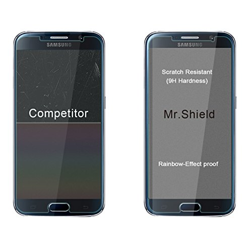 3 Pack Mr Shield For Samsung Galaxy S6 Tempered Glass