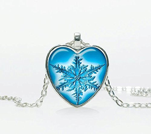 Snowflake necklace pendant jewelry Christmas