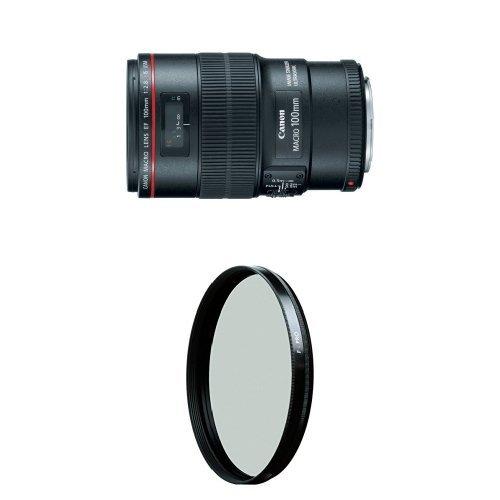 Canon EF 100mm f/2.8L IS USM Macro Lens for Canon Digital SLR Cameras w/ B+W 67mm HTC Kaesemann Circular Polarizer by Canon