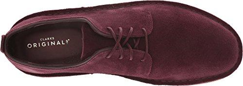Bordeaux Clarks Oxford Suede Desert Shoe Men's London wx6gq7P