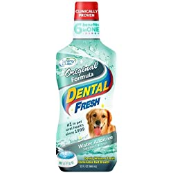 Dental Fresh Water Additive Original Formula for Dogs 32 oz