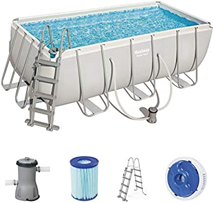 Bestway Power Steel Rectangular Pool Set Juego de Piscinas con ...