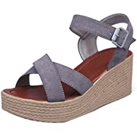 Anxinke Summer Fashion Shoes Wedge Sandals with Platforms