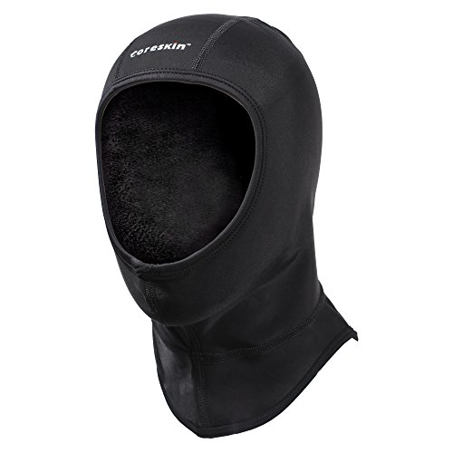 Coreskin Wetsuit Dive Hood 3mm Lycra Extra Warm 4 Way Stretch, Flow Vent No Trapped Air Face Seal for Water Sports in Cold (L Size)
