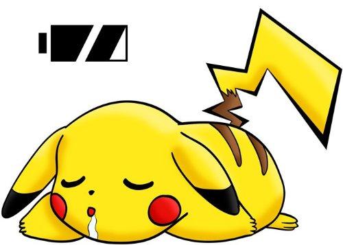 Okiwoki Casquette French Days Pok/émon parodique Pikachu : Batterie /à Plat ! Parodie Pok/émon