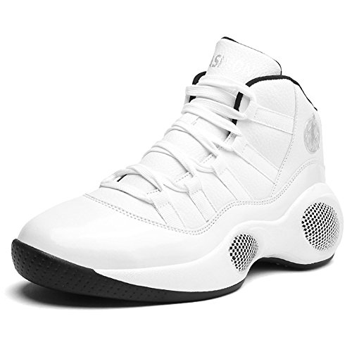 Scurtain Mode Sneakers Sport Halkskydd High-top Andas Avslappnad Promenadskor Vita 1