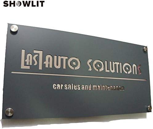 [해외]Showlit Black Plate Door Address Signs Custom Made Home Numbers Plate / Showlit Black Plate Door Address Signs Custom Made Home Numbers Plate