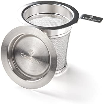 Tea Barron Best Loose Leaf Tea Infuser – Finest Weave Commercial Grade Tea Strainer Basket Crafted from 304 Stainless Steel – Roomy Fine Mesh Tea Diffusers Cup Won't Let Particles Through
