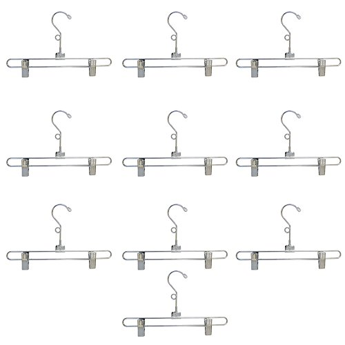[12'' Metal Hangers Chrome Pant & Skirt Hanger Clip Fixture Retail Store Set of 25] (Banana Hammock Adult Mens Costumes)