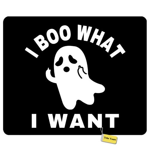 Gaming/Working Mousepad I Boo What a Want - Cute Funny Ghost Halloween Round Rectangle Non-Slip Rubber Comfortable Desk Mousepad Standard Mouse Pad Gift 9.5