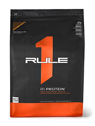 R1 Protein Whey Isolate/Hydrolysate, Rule 1 Proteins (152 Servings, Chocolate Fudge) by Rule 1 Proteins