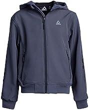 Reebok Boys Softshell Jacket - Polar Fleece Lined with Hood (Charcoal Taping, 10/12)'