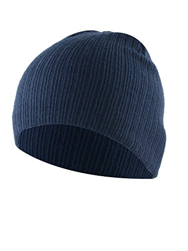 American Trends Kids Baby Beanies Hat Boy Girls Toddler Infant Cotton Knit Hats Children Winter Cozy Cute Caps Navy -