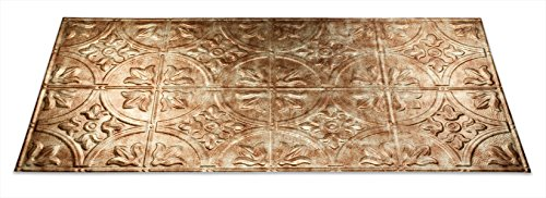 Fasade Easy Installation Traditional 2 Bermuda Bronze Glue Up Ceiling Tile / Ceiling Panel (2' x 4' Panel)
