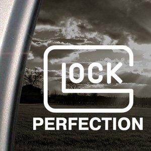 Glock Perfection Decal Gun Car Truck Window Sticker