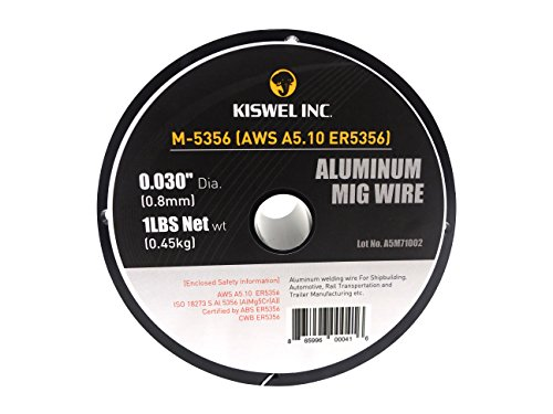 Kiswel USA M-5356 ER5356 0.030 in. Dia 1 lb. Aluminum Mig Welding Wire Spool Made in USA