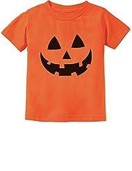 Jack O' Lantern Pumpkin Face Halloween Costume Toddler/Infant Kids T-Shirt