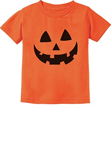 Pumpkin Costumes For Toddler (Jack O' Lantern Pumpkin Face Halloween Costume Toddler/Infant Kids T-Shirt 3T Orange)