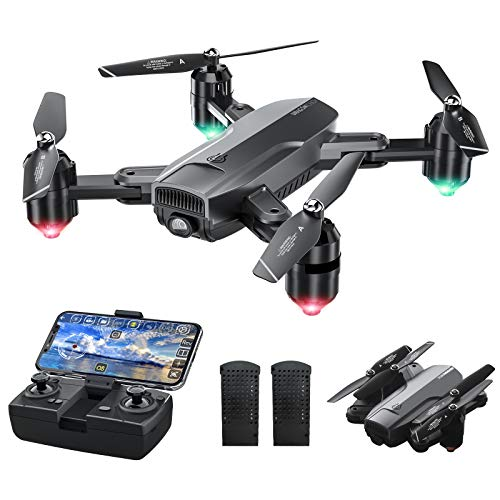 Dragon Touch DF01 Foldable Drone with Camera for Adults, WiFi FPV Drone with 120° Wide-Angle 1080P HD Camera RC…
