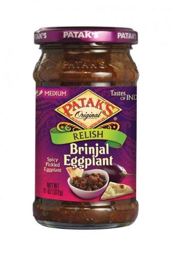 Patak's Brinjal Egg Plant Relish, Medium, 11 oz