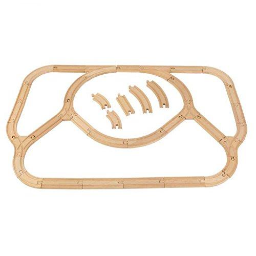 KidKraft Wooden Expansion Track Pack (Wooden Train Kidkraft)