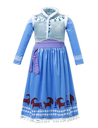 FashionModa4U Frozen Adventure Girls Costume Dress Anna, 3T -