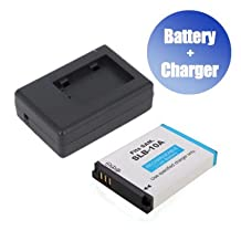 Battpit™ Battpit™ New Digital Camera Battery + Charger Replacement for Samsung SLB-10A (1050 mAh) (Ship from Canada)