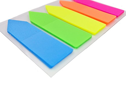 Antner 12 Sets Neon Page Markers Colored Index Tabs Flags Sticky Notes for Page Marker, 1200 Pieces Photo #4