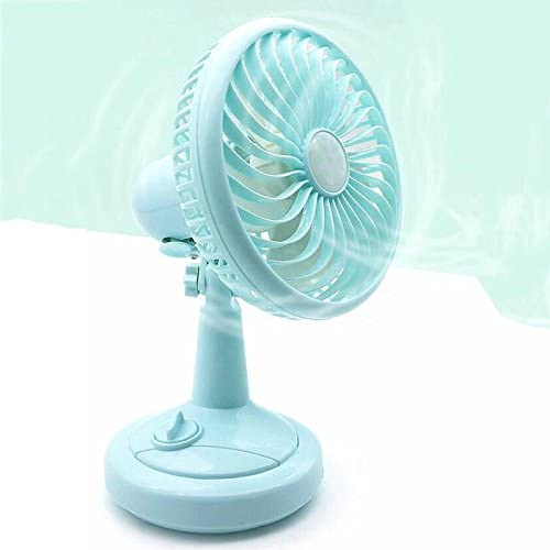 HAJZF Rechargeable USB Small Portable Mini Fan Ultra-Quiet Student Dormitory with Bed Cute Desktop