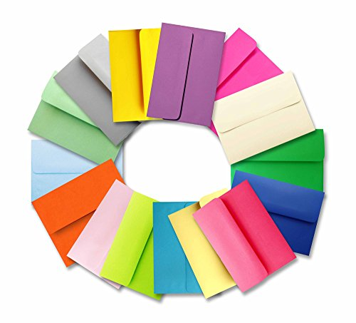 (Muli Colored Assortment (200 Boxed) A7 5-1/4 X 7-1/4 Envelopes for 5 X 7 Greeting Cards Invitations Photos Announcement Showers from The Envelope Gallery)