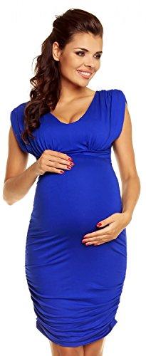 Zeta Ville Women's - Maternity Dress - Generous in Shoulders - Sleeveless - 525c (Royal Blue, 10)